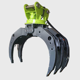 Excavator Log Grab Excavator Attachment  Wooden Grapple  360 Degree Rotation